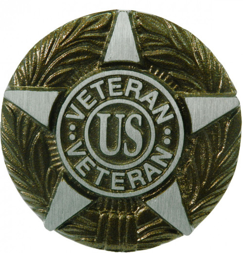 US Veteran Grave Marker---Cast Aluminum
