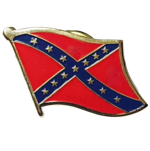 Confederate Rebel Lapel Pin Wavy