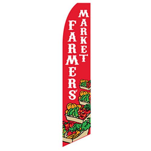 Farmers Market Feather Flag