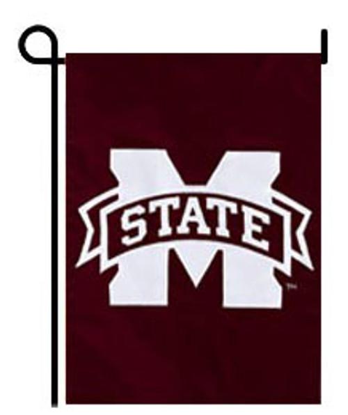 Mississippi State Bulldogs Appliqued Garden Flag