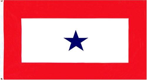 Blue Star 3x5 Service Flag