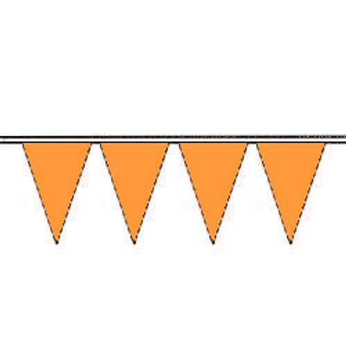 Blaze Orange Fluorescent Pennants