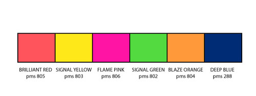 Signal Green and Flame Pink Fluorescent Pennants