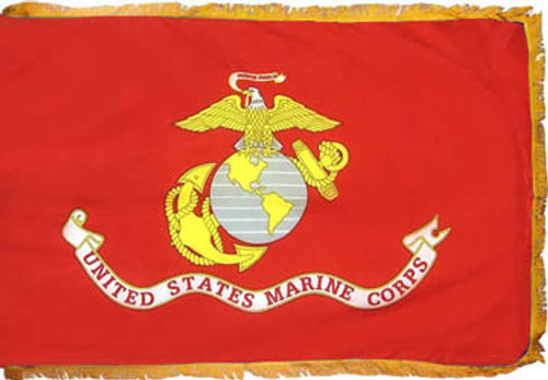 US Marines Fringed Flag