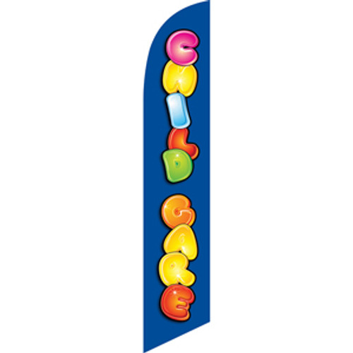 Child Care Feather Flag