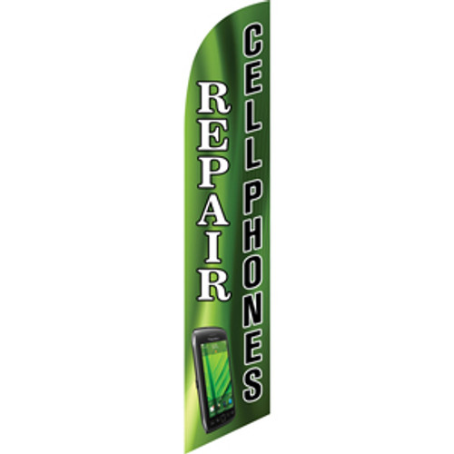 Cell Phone Repair (green) Semi Custom Feather Flag Kit