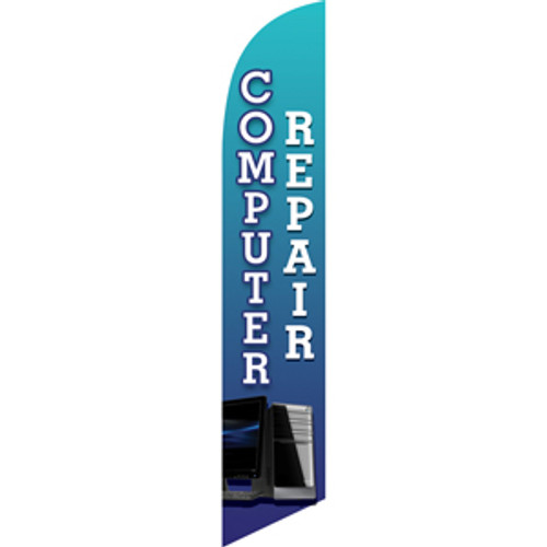 Computer Repair (blue) Semi Custom Feather Flag Kit