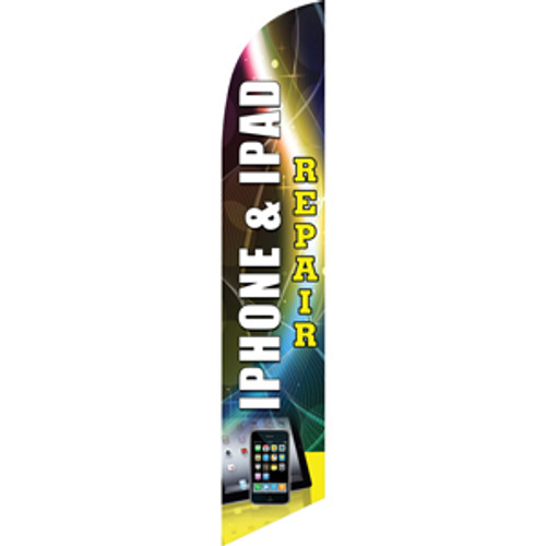 iPhone & iPad Repair (white/yellow) Semi Custom Feather Flag Kit