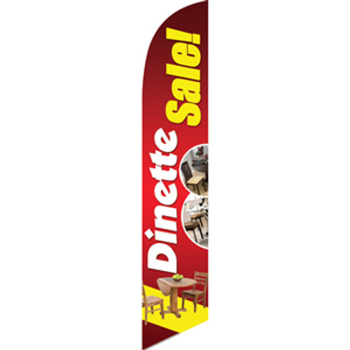 Dinette Sale (Yellow Letters) Semi Custom Feather Flag Kit
