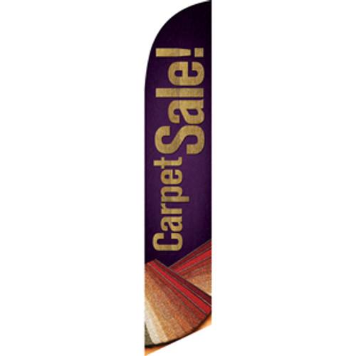 Carpet Sale (Brown Background) Semi Custom Feather Flag Kit