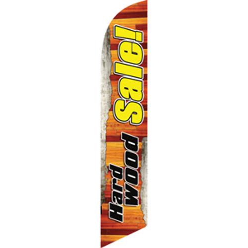 Hardwood Sale (Black Letters) Semi Custom Feather Flag Kit