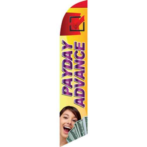 Payday Advance (yellow and red background) Semi Custom Feather Flag Kit