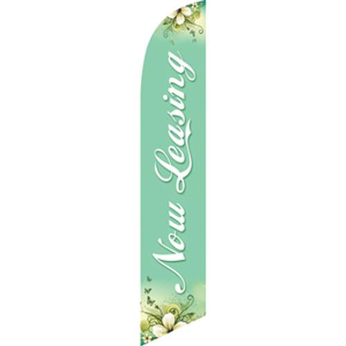 Now Leasing (aqua background) Semi Custom Feather Flag Kit