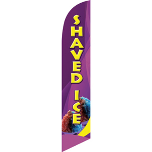 Shaved Ice (purple background) Semi Custom Feather Flag Kit