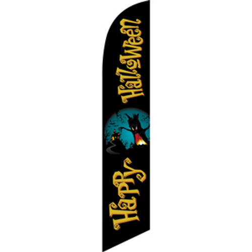 Happy Halloween (spooky tree) Semi Custom Feather Flag Kit