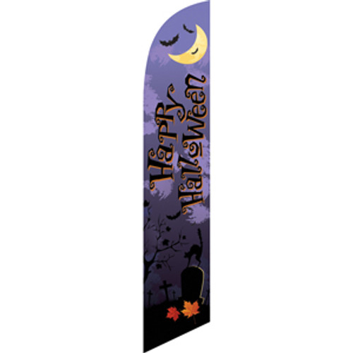 happy halloween purple sign
