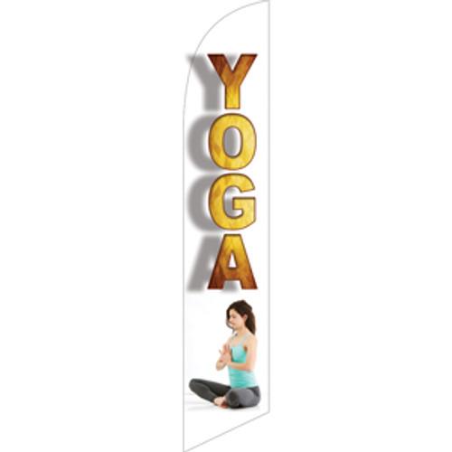 Yoga (white background) Semi Custom Feather Flag Kit
