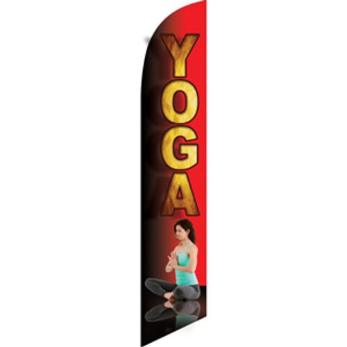 Yoga (red background) Semi Custom Feather Flag Kit