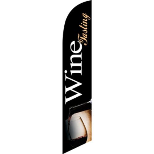 Wine Tasting (black background) Semi Custom Feather Flag Kit