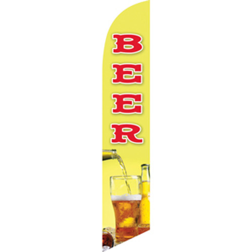 Beer (yellow-green background) Semi Custom Feather Flag Kit