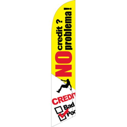 No Credit? No Problema! Semi Custom Feather Flag Kit