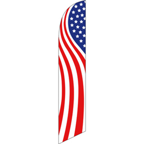 American Flag (swirls) Semi Custom Feather Flag Kit