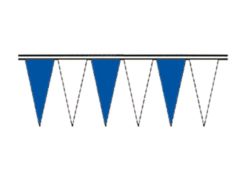 Blue and White Economy Icicle Pennants 4 mil