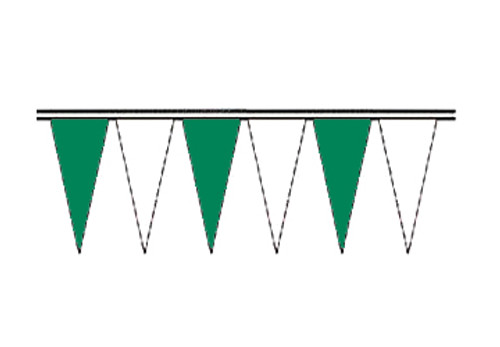 Green and White Economy Icicle Pennants 4 mil