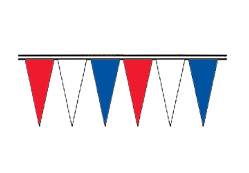 Red, White and Blue Regular Icicle Pennants