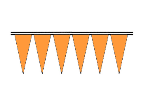 Blaze Orange Fluorescent Icicle Pennants
