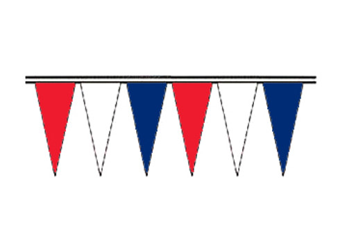Red, White and Blue Fluorescent Icicle Pennants