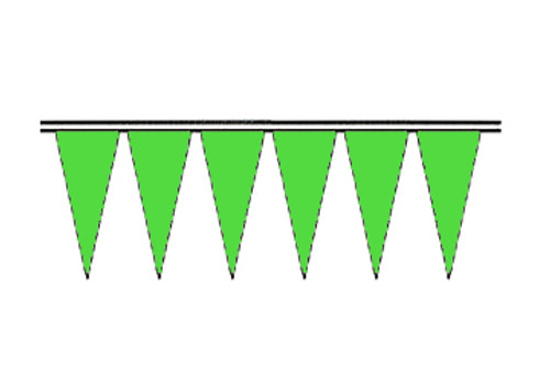 Signal Green Fluorescent Icicle Pennants