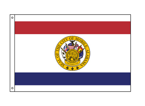 City of Mobile, Alabama Flag