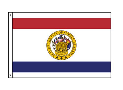City of Mobile, Alabama Flag