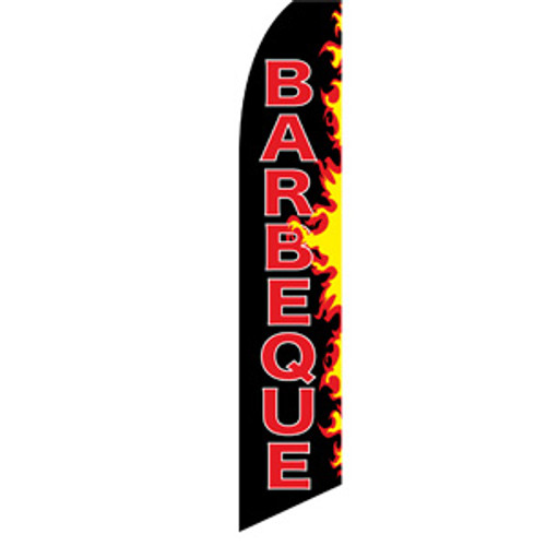 BARBECUE (RED LETTERS) feather flag