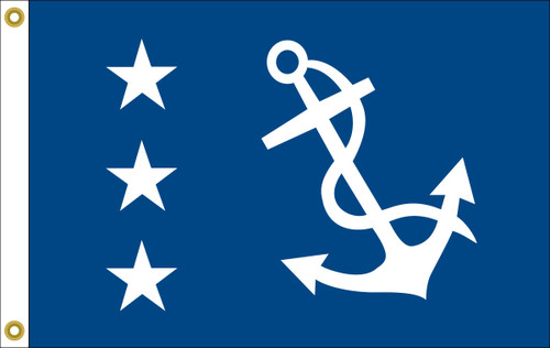 Past Commodore Yacht Club Flag (hand-sewn)