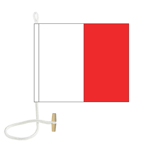 H International Code Signal Flag (Rope and Toggle)