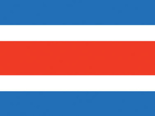 Costa Rica (no seal) Nautical Flag