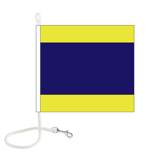 D International Code Signal Flag (Rope and Snap Hook)