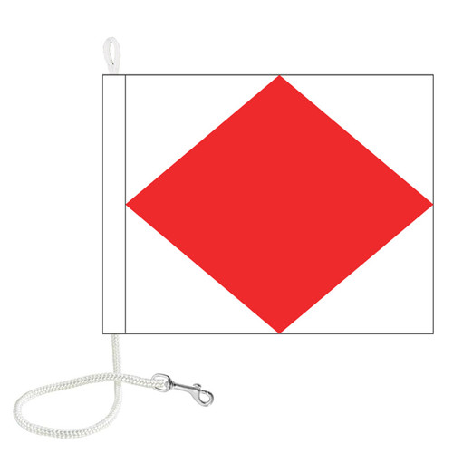 F International Code Signal Flag (Rope and Snap Hook)