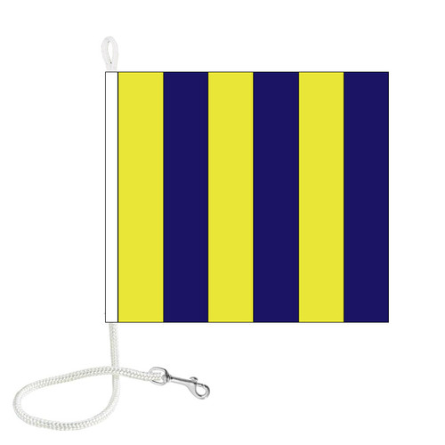G International Code Signal Flag (Rope and Snap Hook)