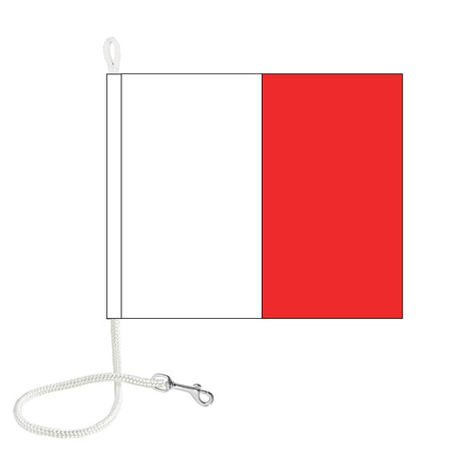 H International Code Signal Flag (Rope and Snap Hook)