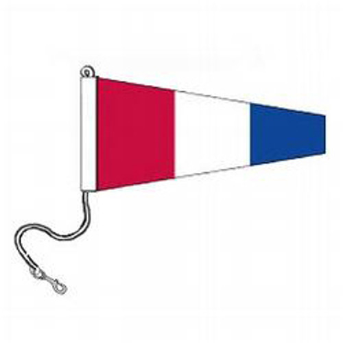 3 International Code Signal Pennants (Rope and Snap Hook)