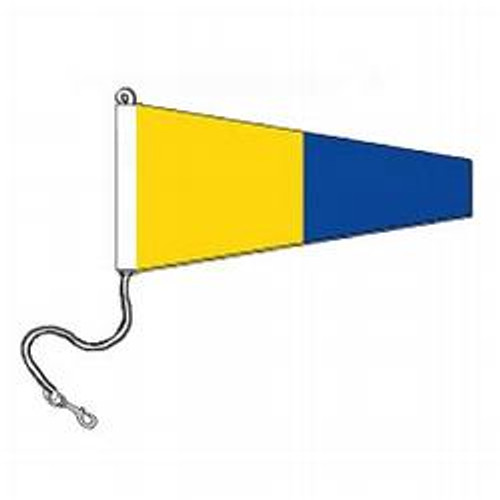 5 International Code Signal Pennants (Rope and Snap Hook)