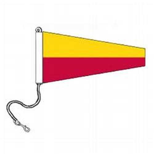 7 International Code Signal Pennants (Rope and Snap Hook)
