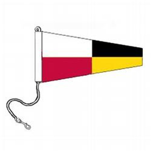 9 International Code Signal Pennants (Rope and Snap Hook)