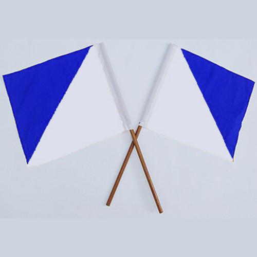 Semaphore Signal Flag Blue and White Set Of 2