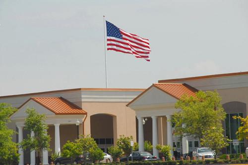 Landers Center 30 x 60 High Wind Nylon Flag