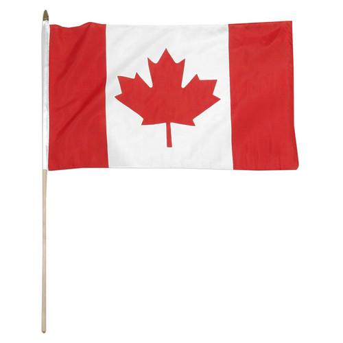 Canada 12 x 18 Inch Stick Flag
