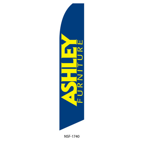 Ashley Furniture Feather Flag blue yellow